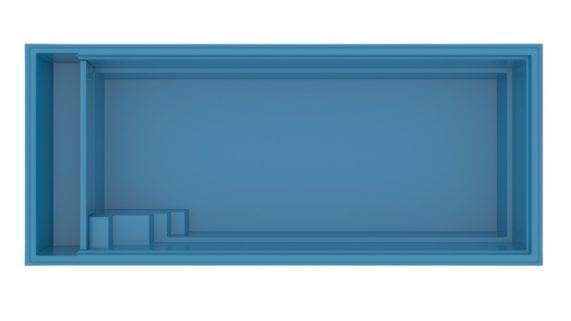 композитний басейн XL-LOUNGER